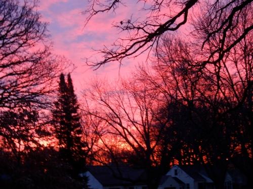 Everything looks better with sleep, ahhh pink sunrise!