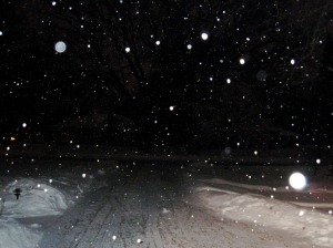 Cold, cold snowy night!